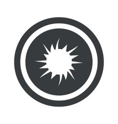 Round black starburst sign vector image