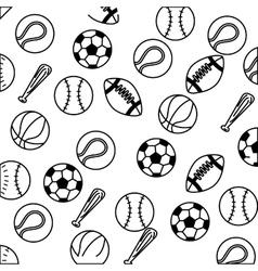 set balls sports equipment vector image