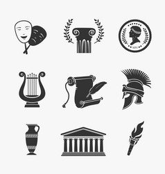 set symbol greece vector image vector image