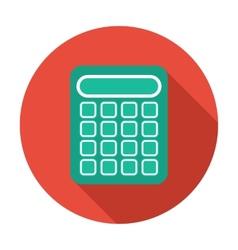 Single flat calculator icon with long shadow vector image vector image