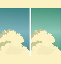 Sky clouds poster vector