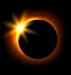 Solar eclipse image astronomical phenomenon of vector