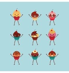 Sweet cupcake design vector