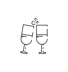 thin line cheers icon vector image vector image