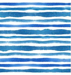 Watercolor strips seamless pattern setblue cyan vector