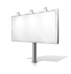 White billboard vector image vector image