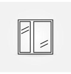 Window icon or line logo vector