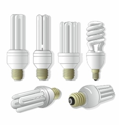 Energy-saving lamps vector