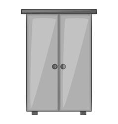 Wardrobe icon gray monochrome style vector