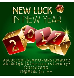 Casino golden happy new year greeting card vector