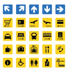 Airport information signs isolated vector