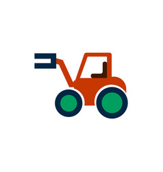 In flat style tractor vector