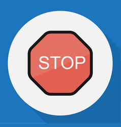 of procuring symbol on stop vector image