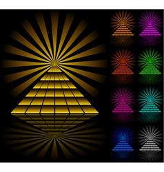 Pyramids vector