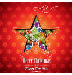 Christmas with abstract star design vector