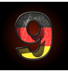 Germany cutted figure 9 vector