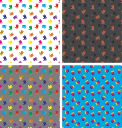 4 Seamless Patterns - Hands EPS 8 vector image