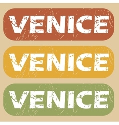 Vintage venice stamp set vector