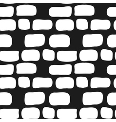 Hand drawn simple brick wall seamless vector