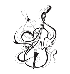 Abstract musical instrument vector