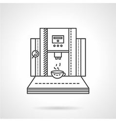 Coffee shop equipment line icon vector