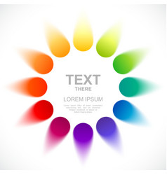 Abstract color wheel vector