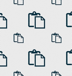 Edit document sign icon seamless pattern with vector