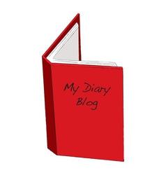 blog diary concept vector image