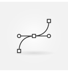 Bezier curve icon or sign vector