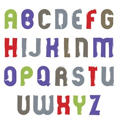 alphabet cartoon capital letters set hand-drawn vector image vector image