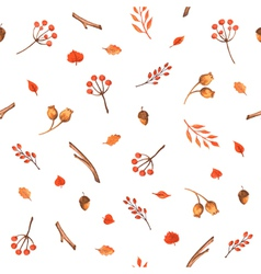 Autumn seamless pattern made of hand drawn leaves vector image vector image