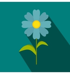 Blue flower icon flat style vector image