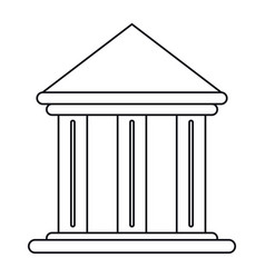 building office bank structure outline vector image