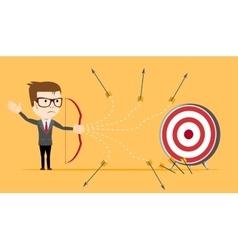 Businessman - loser shooting arrow vector