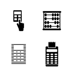 calculator simple related icons vector image