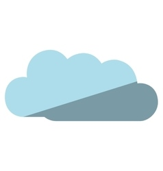 Cute cloud isolated icon vector