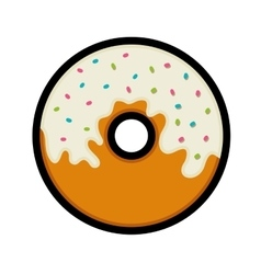 Donut icon fast food design graphic vector