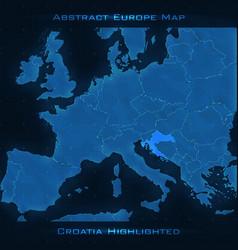 Europe abstract map croatia vector