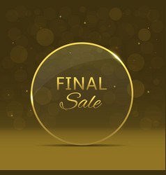 Final sale label vector