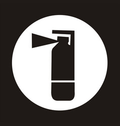 Fire extinguisher icon - black vector