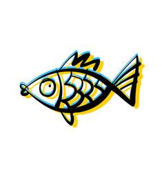 Fish underwater vector