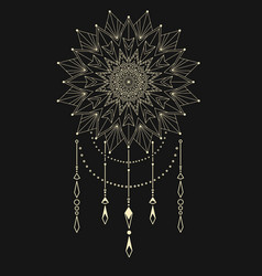 flower mandala dream catcher vector image vector image