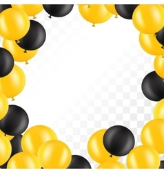 Frame of balloons on transparent background vector