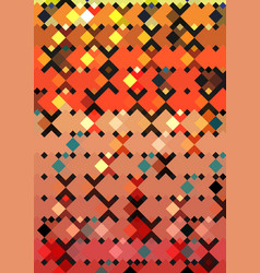 geometric square pattern design template vector image vector image