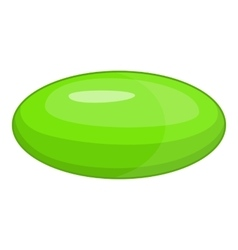 Green pill icon cartoon style vector