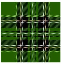 Green Stewart Tartan Design vector image vector image