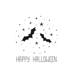Happy Halloween message design background Sketchy vector image