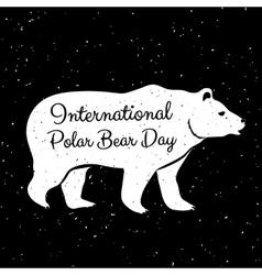 International Polar Bear Day vector image vector image