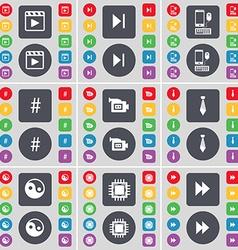 Media player media skip smartphone hashtag film vector