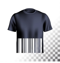 Mens tshirt design barcode vector
